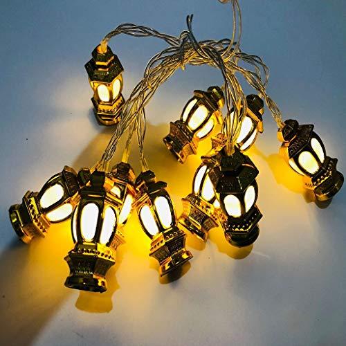 ️ Yu2d ❤️❤️ ️Led Light String Eid Mubarak Curtain Lights Decorative Holiday Lights]()