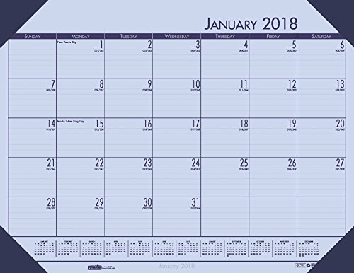 House of Doolittle 2018 Monthly Desk Pad Calendar, EcoTones, Orchid Paper, 22 x 17 Inches, January - December (HOD12473-18) (Ecotones Calendar Monthly Pad Desk)