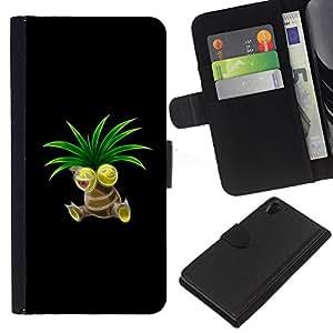 // PHONE CASE GIFT // Moda Estuche Funda de Cuero Billetera Tarjeta de crédito dinero bolsa Cubierta de proteccion Caso Sony Xperia Z2 D6502 / P0Kemon Sprout /