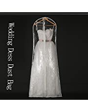 Transparent Wedding Dress Dust Cover Omniseal Extra Large Waterproof PVC Solid Wedding Garment Storage Bag Overseawell