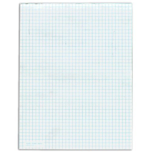 Tops 3314 Quadrille Pads, 4 Sq/In.,15 lb., 8-1/2 in.x11 in.,12/PK, WE by Tops by TOPS (Image #1)