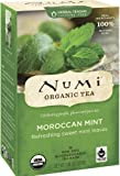 Numi Organic Tea Moroccan Mint, Full Leaf Herbal Teasan, Caffeine Free, 18 Count Tea Bags (Pack of 3)