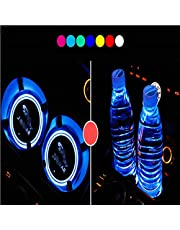 Anti-slip Mat Car Styling Led Car Cup Holder Bottom Pad Mat Led Light Cover Trim Atmosphere Lamp Lights Auto Cup Mat Drinks Holder Wide Varieties