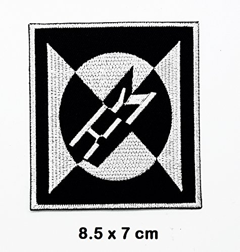 Black White MACHINE HEAD MH Music Metal Punk rock patch Iron on Logo Vest Jacket cap Hoodie Backpack Patch Iron On/sew on patch