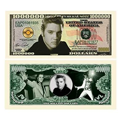 American Art Classics Elvis Presley Million Dollar Bill - Comes in Bill Protector: Toys & Games