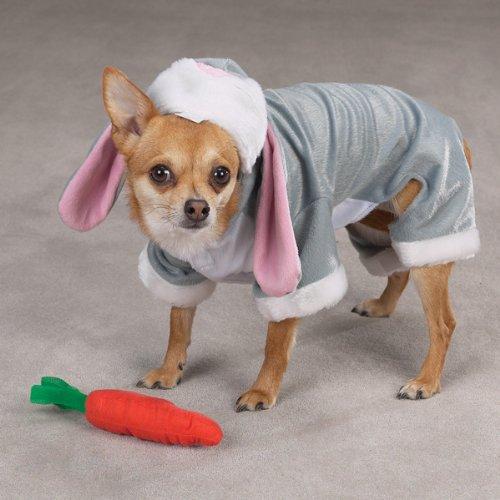 Zack & Zoey Polyester Bunny Rabbit Dog Costume, 24-Inch, X-Large