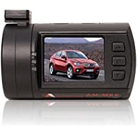 Amacam AM-M88 Car Dash Camera. Full HD1080P. 135 Degree View. Supports up to 128GB SD Cards. GPS Route Log. Lane Departure Warning. Forward Collision Warning System. Motion Detection and G Sensor.