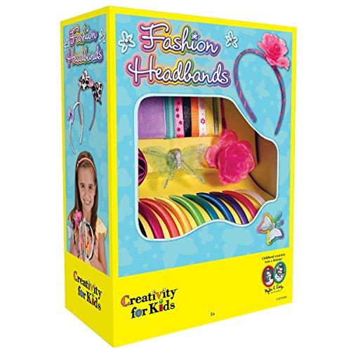 Creativity for Kids Fashion Headbands Craft Kit, hace 10 accesorios únicos para el cabello