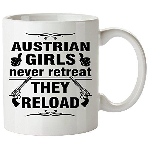 AUSTRIAN Coffee Mug 11 Oz - Good Gifts for Girls - Unique Coffee Cup - Decor Decal Souvenirs Memorabilia