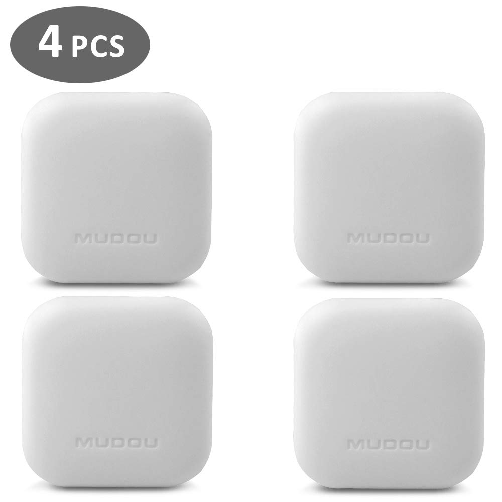 SQUARE2.1White Door Handle HALLO Wall Protector,Silicon Wall Protectors Self Adhesive Door Stopper Bumper Guard Door Knob Stopper Rubber Round Stop,4PACK