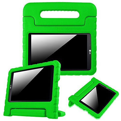Fintie LG G Pad 7.0 Kiddie Case - Light Weight Shock Proof Convertible Handle Stand Kids Friendly for LG G Pad V400 / V410 (LTE) / VK410 / UK410 / LK430 (G Pad F7.0) 7-Inch Android Tablet, Green (Lg Tablet Case Kids)