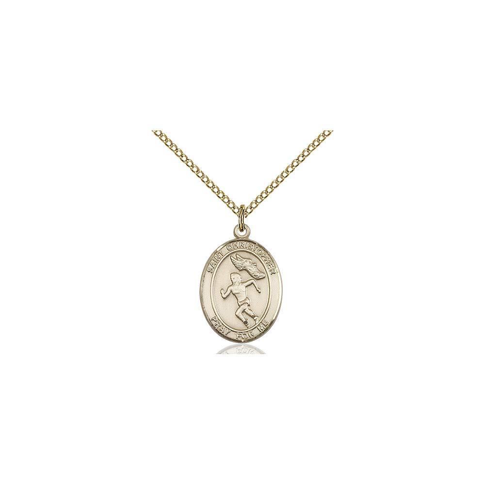 Christopher//Track/&Field Pendant DiamondJewelryNY 14kt Gold Filled St