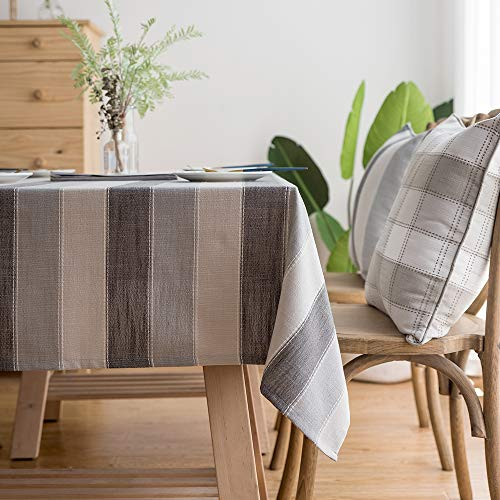 LINENLUX Stylish Square Rectangular Tablecloth/Table Cover for Kitchen