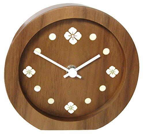 貝象嵌 置時計 和紋 花菱 4042 B00M1ED4BK 花菱 花菱