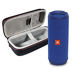 JBL Flip 4 Portable Bluetooth Wireless Speaker Bundle with Protective Travel Case – Black