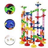 105Pcs/Set Race Game Run Plastic Maze Balls Track House Building Block Toys