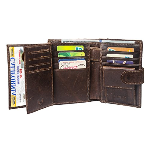 I.M.P Allin1 Genuine Leather RFID Blocking Mens Wallets Trifold