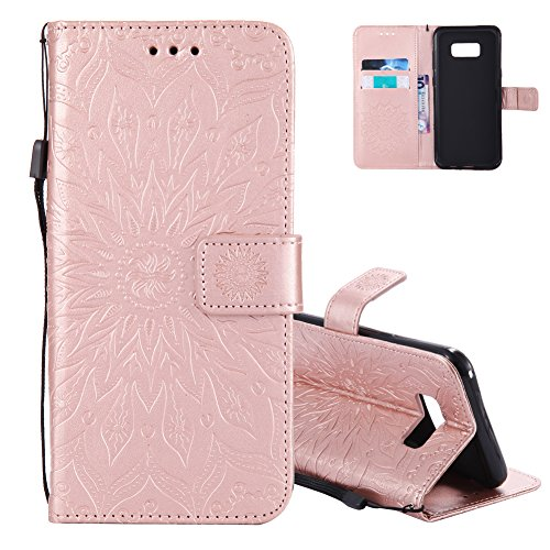 Silicone Violet Etui Tpu Holster Cuir Luxe Et Coque Flip S8 Fleur Soleil Pochette Samsung Galaxy Souple Aeeque® Portable Rose Antichoc Couleur Or Housse noir Protection De Plus Coutures Shell wTqR7HWP