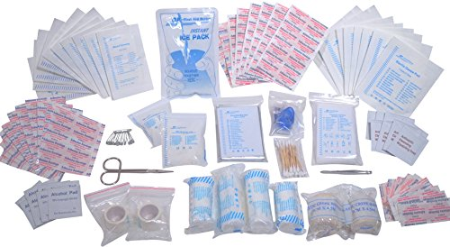 First Aid Kit Refill - 200 Piece | Extra Replacement Supplies for First Aid Kit, Loose Packed (First Kit Aid Refill)