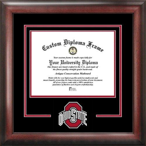 (Campus Images NCAA Ohio State Buckeyes Spirit Diploma Frame, 8.5 x 11, Mahogany )