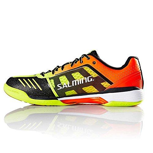 Salming Viper 4 Junior Indoor Court Shoe Yellow/Orange (6.5)