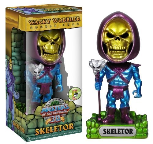Exclusive Wacky Wobbler - Masters Of The Universe: Metallic Skeletor Wacky Wobbler SDCC 2013 Exclusive