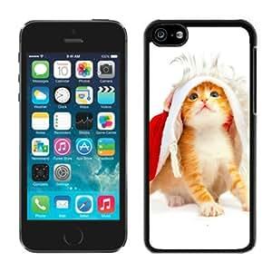 2014 Latest Iphone 5C TPU Case Christmas Cat Black iPhone 5C Case 48