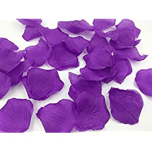 1000PCS Brial Shower Artificial Fabric Rose Silk Flower Petals Table Scatters for Wedding Romantic Night Purple Prom Ball Party Aisle Decorations Floor Confetti 1