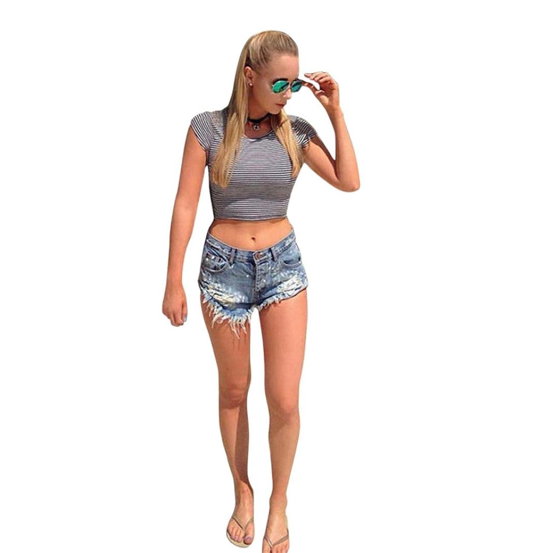 46a09fb9716b48 billig Dasongff Frauen Reizvolle Shorts Zerrissene Jeans Denim Kurze Hosen  Getragene Hotpants Jeans Shorts