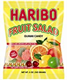 gummy fruit candy - Haribo Gummi Candy, Fruit Salad, 5-Ounce Bags (Pack of 12)