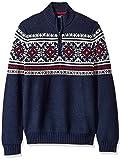 IZOD Men's Saltwater Button Mock Neck Sweater, Peacoat, Medium