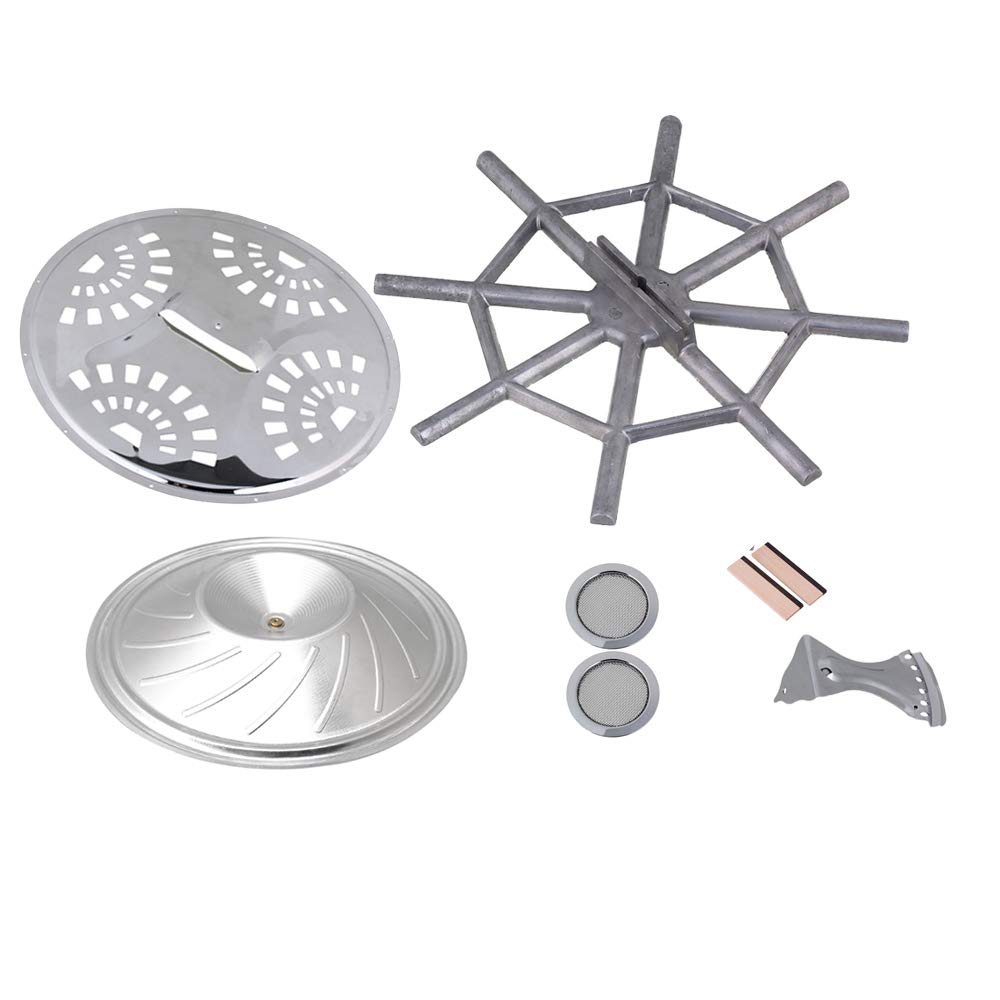 Yibuy Resonator Guitar Kit Bridge Soundhole Cover Resonator Tailpiece Spider bridge Cover Resonator Cone Set of 8 etfshop Yibuy830
