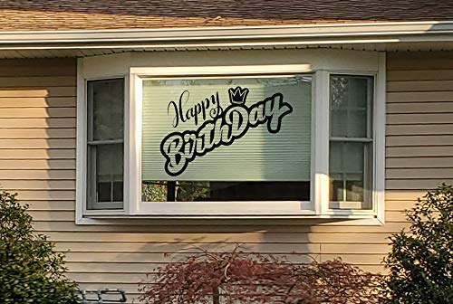 car or home bay window or wall Removable and Multi-Color 12-42 Happy Birthday Decal Sticker for celebration 2
