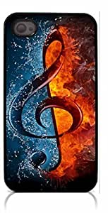 HeartCase Hard Case for Iphone 4 4G 4S (Treble Clef Music )