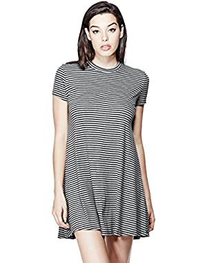 GUESS Women's Dana Short-Sleeve Striped Dress