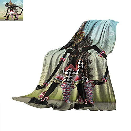 (ALLMILL Digital Printing Blanket Knight Character on Shadow Puppets Throw Blanket 60