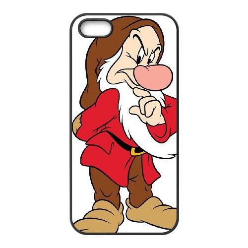 Disney Schneewittchen und die sieben Zwerge Character Grumpy 001 iPhone 4 4S Handy-Fall Hülle schwarz W2V8MJCOUY