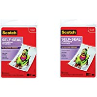 $24 » Scotch Self-Sealing Laminating Pouches, Glossy Finish, 4 3/8 x 6 3/8 Inches, 5 Pouches (PL900G),…