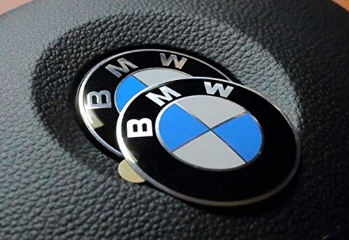 (45mm Steering Wheel Adhesive Logo Badge Fits BMW 1 3 5 6 7 Z3 Z4 X5 X6 E46 E90 E39 E60 F10)