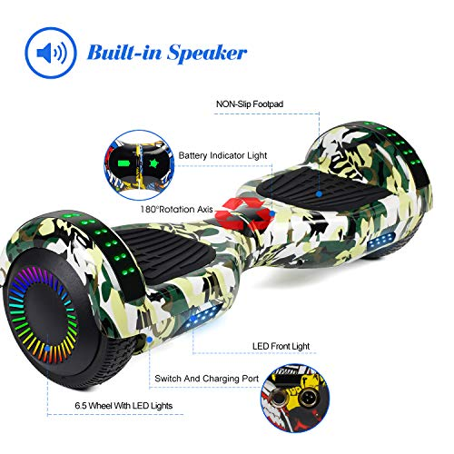 Sea Eagle Hoverboard Self Balancing Scooter Hover Board for Kids Adults with UL2272 Certified, Wheels LED Lights and Portable Carrying Bag