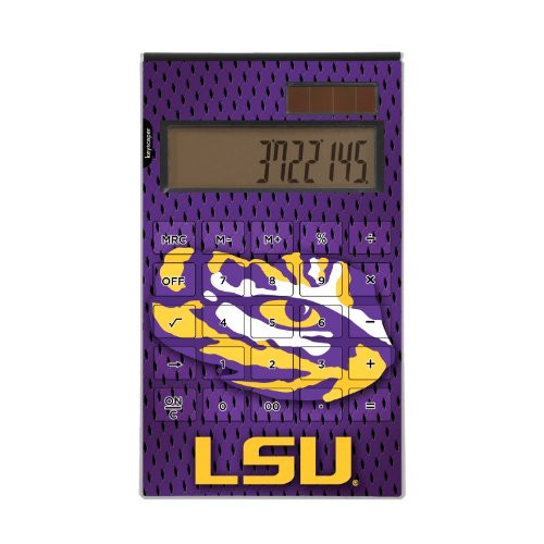 Louisiana State Tigers Desktop Calculator officially licensed by Louisiana State University Full Size Large Button Solar by keyscaper®