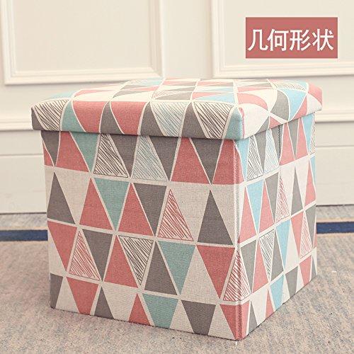STJK$BMJW 折り畳み式椅子用生地 シートや小さなソファの椅子やハイパッド、フットレスト、ベッドルーム、子供用靴として使用できます。 6930758319502 B07CLNXRG4 Geometry[30*30*30cm]