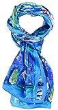 Salutto Women 100% Silk Scarves PaintedLotus Pond Scarf