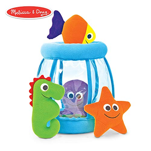 Melissa & Doug Deluxe Fishbowl Fill and Spill Soft Baby Toy ()