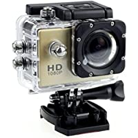 1080P Action Camera Full HD Sports Cam Waterproof up to 90 FT with 140 Degree Wide Angle Lens and 2.0 Inch LCD Display with Full Assortment of Accessories Included by Design By Morelli Legend Gold