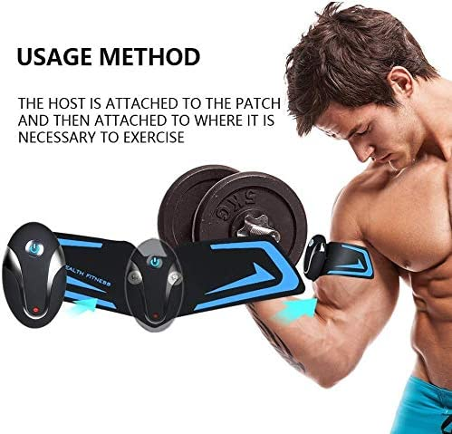 UMATE ABS Stimulator Abdominal Muscle Toner, EMS Abdomen Muscle Trainer Toning Workout Rechargeable for Men Women, Abs Stimulating Belt 6