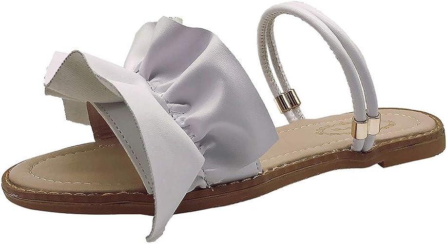 Femme Femmes plat avec strass Sling Back Sandales Taille Rembourré