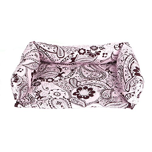 Pet Sofa Bed Pad Dog Cat Puppy Couch Mat Cosy Kennel Pad Cushion (Pink)