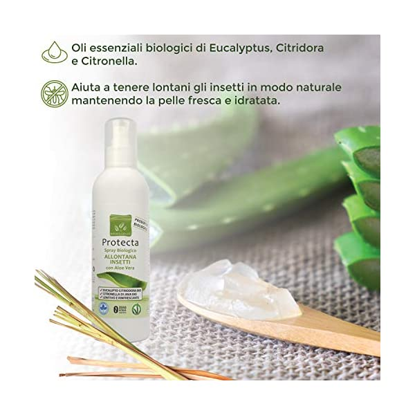 Benessence - Spray biologico Allontana Insetti e Zanzare con Aloe Vera - lenitivo da 250 ml 2 spesavip