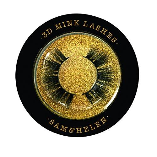 Sam&Helen 100% Handmade Siberian Mink Eyelashes   Paris   Reusable 3D Mink Lashes for Daily Makeup Natural Thick Long Short 8 Styles Options